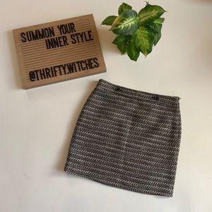 Ann Taylor Loft Black and White Pencil Skirt